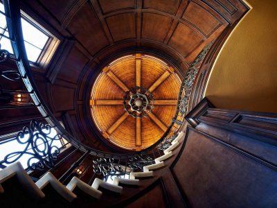 luxury home interior wooden details