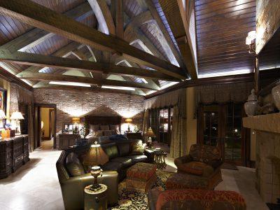 Luxury living room details in house designed by Sam Vercher