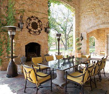 Dining Patio of a home designed by Custom Home Builder Sam Vercher