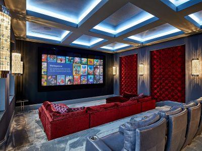 Private cinema designed by Sam Vercher