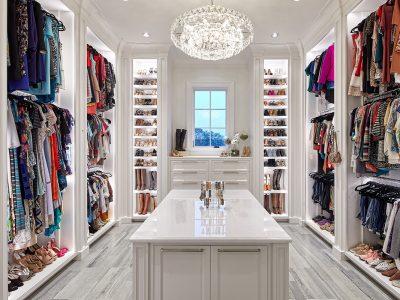 Closet in a house designed by Sam Vercher