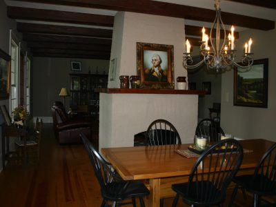 Furnished dining room designed by Sam Vercher from Tyler Texas