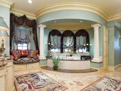 Interior design of luxury bathroom designed by Sam Vercher