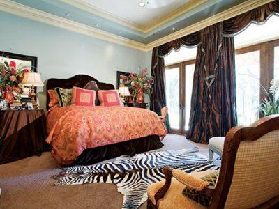 Interior design of luxury bedroom designed by Sam Vercher