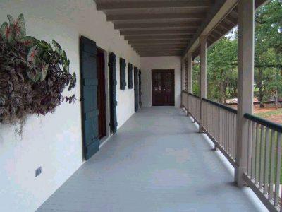 Porch of a home designed by Custom Home Builder Sam Vercher