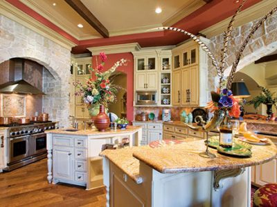 Interior design of luxury kitchen designed by Sam Vercher