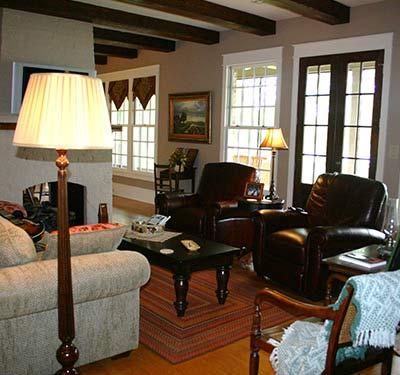 Living room details of a home designed by Custom Home Builder Sam Vercher