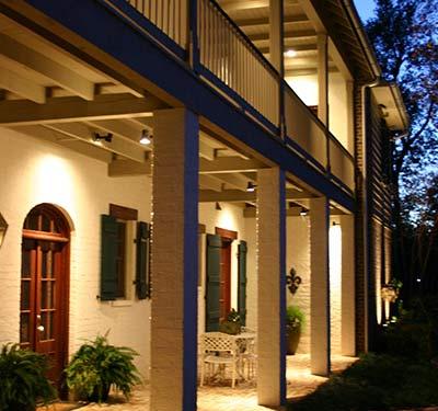 Entrance of a home designed by Custom Home Builder Sam Vercher