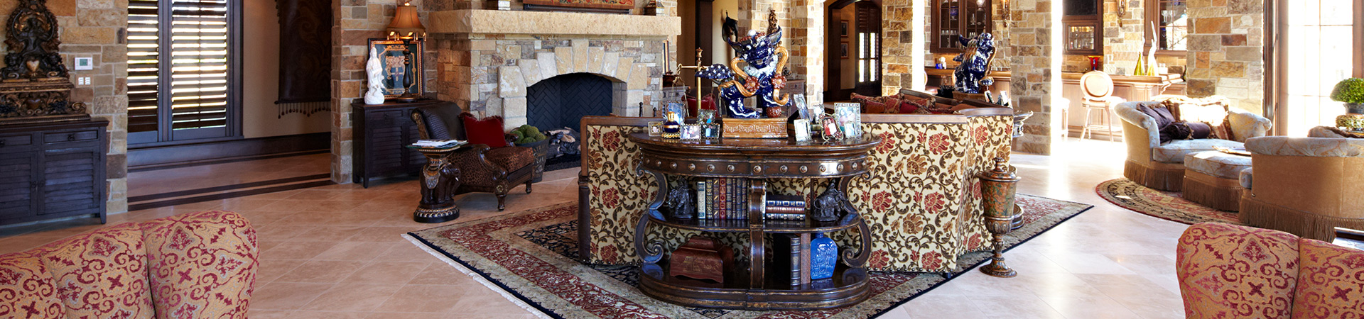 Living room details from house designed by Sam Vercher from Tyler Texas