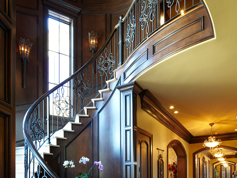 Staircase details from house designed by Sam Vercher