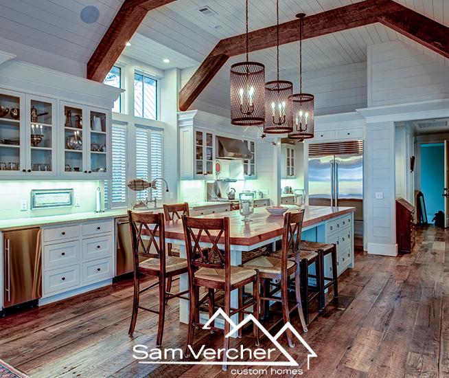 sam vercher custom homes Texas dining room ideas
